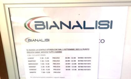 Il Centro prelievi di Buccinasco aperto tutti i giorni dal 1° settembre