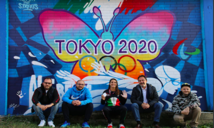 Buccinasco dedica un murale ad Alessia Berra, argento alle Paralimpiadi