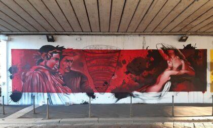 Dante Alighieri approda sul Naviglio Grande: un'opera di street art celebra il sommo poeta